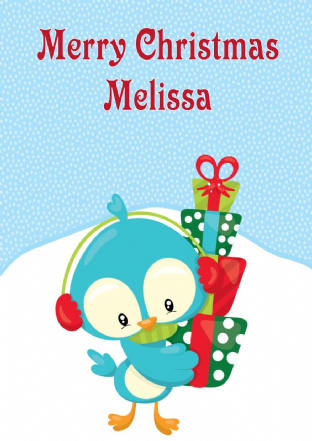 Personalised Baby Bird Christmas Card